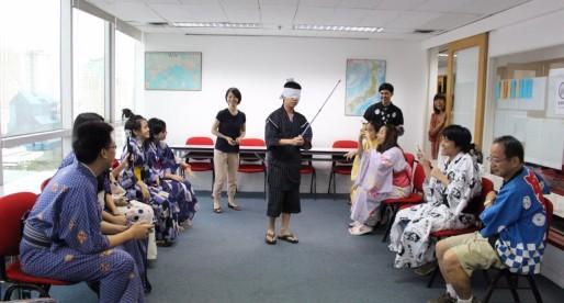 Exchange Corner กิจกรรมฝึกภาษา ปิดตาตีแตงโม
