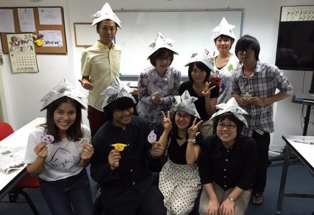 Exchange Corner กิจกรรม ฝึกภาษาญี่ปุ่น ตอน 折り紙 ( O-RI-GA-MI ) การพับกระดาษแบบญี่ปุ่น