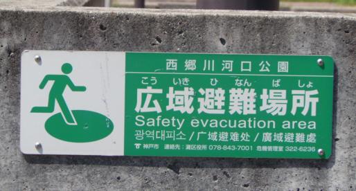 สัญลักษณ์ภาพของญี่ปุ่น กรณีฉุกเฉินหรือยามเกิดภัยพิบัติ