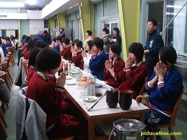 อาหารกลางวัน เรียนม.ปลายที่ญี่ปุ่น