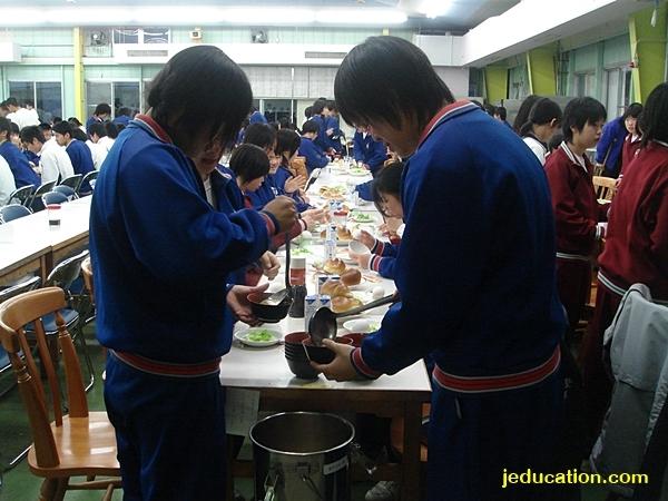 โรงอาหาร มัธยมปลาย ญี่ปุ่น